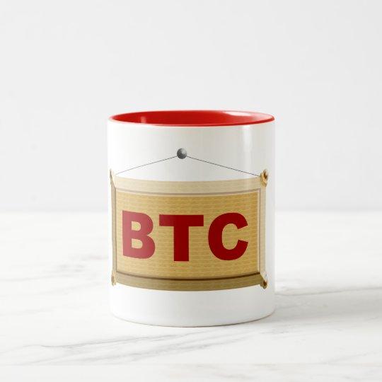 bitcoin schild holz zweifarbige tasse