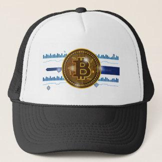 Bitcoin Schlüsselwährungs-Diagramm Entwurf Truckerkappe