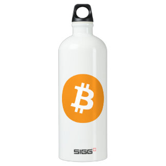 Bitcoin Schlüsselwährungs-Logo Wasserflasche