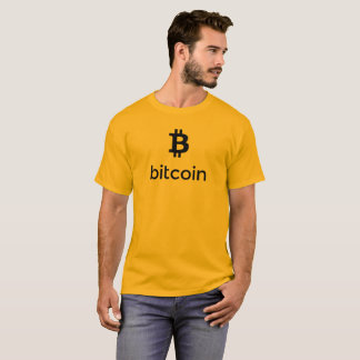 Bitcoin schwarzes Logo T-Shirt