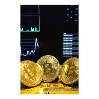 Bitcoin Trio-Stromkreismarkt entwirft sauberes Briefpapier