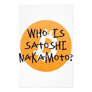Bitcoin - wer ist Satoshi Nakamoto? Briefpapier