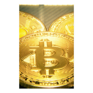 Bitcoins makro großes rundes mojo briefpapier