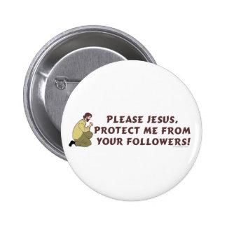 Bitte christlicher Spaß Jesuss Buttons