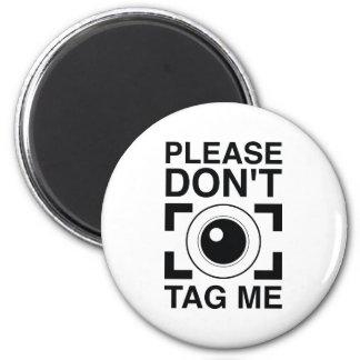 Bitte etikettieren Sie mich nicht Runder Magnet 5,7 Cm