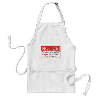 Bitte füttern Sie nicht die Klempner! Schürze