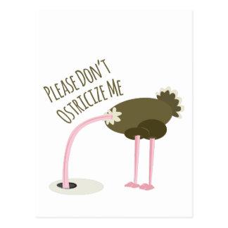 Bitte nicht tun Ostricize ich Postkarte