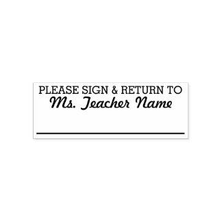 Bitte unterzeichnen Sie und bringen Sie - Permastempel