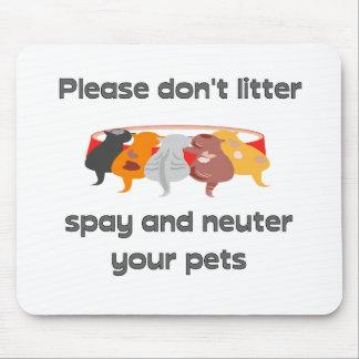 Bitte verunreinigen Sie nicht Mauspads