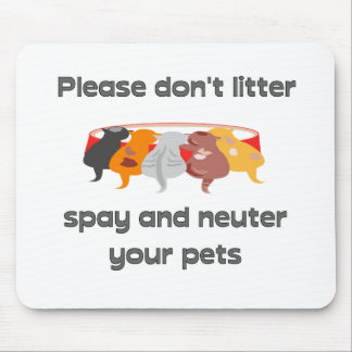 Bitte verunreinigen Sie nicht Mousepads