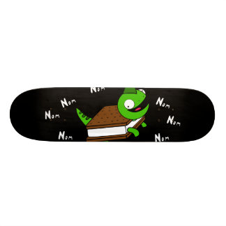 Bizzare NOM NOM Eidechsen-Schwarz-Skateboard 20,6 Cm Skateboard Deck