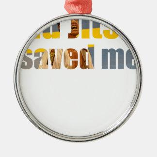 BJJ rettete mich Silbernes Ornament