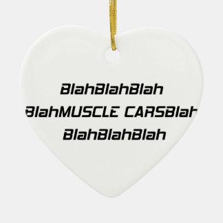 Blabla Muskel-Auto Blabla Keramik Ornament