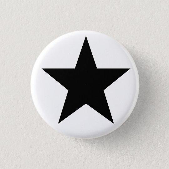 Black Anarchy Star (klassisch) Runder Button 3,2 Cm