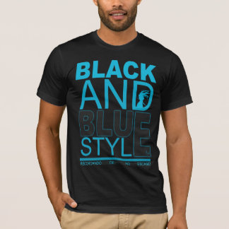 black and blue T-Shirt