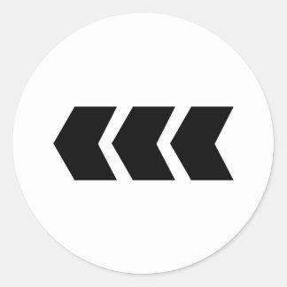 black arrow left round sticker