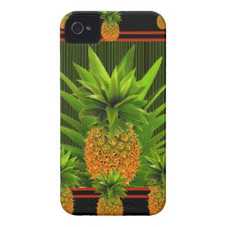 BLACK-GREEN HAWAIISCHER ANANAS-ENTWURF Case-Mate iPhone 4 HÜLLE