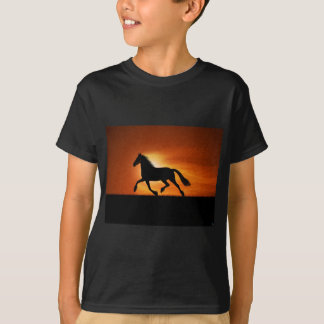 Black horse T-Shirt