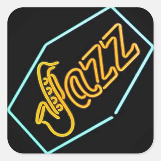 Black Jazz Quadratischer Aufkleber