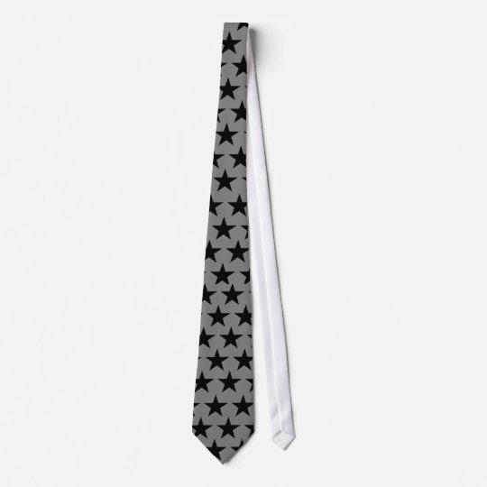 Black Stars Muster Personalisierte Krawatten