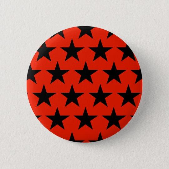 Black Stars Muster Runder Button 5,1 Cm