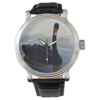 Black_Swan, _Men's_Vintage_Leather_Watch. Armbanduhr
