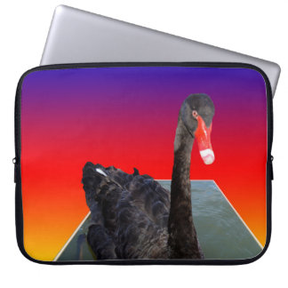 Black_Swan_Rainbow_Popout, _15inch_Laptop_Sleeve Laptopschutzhülle