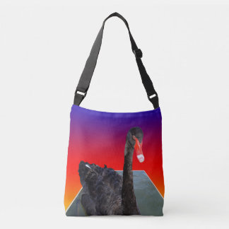 Black_Swan, _Rainbow_Popout_Art, _Cross_Body_Bag Tragetaschen Mit Langen Trägern