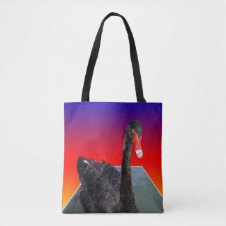 Black_Swan, _Rainbow_Popout_Art, _Shopping_Bag Tasche