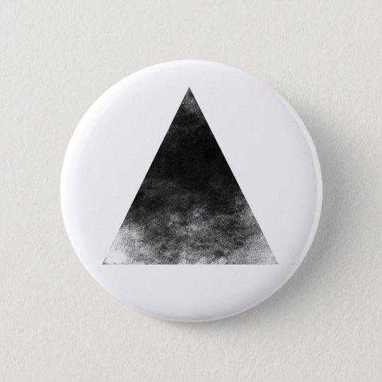 Black Triangle Runder Button 5,7 Cm