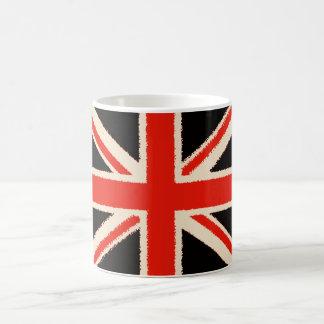 Black Union Jack (Art Style) Kaffeetasse