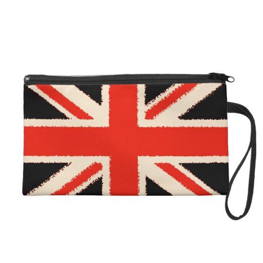 Black Union Jack Wristlet Handtasche