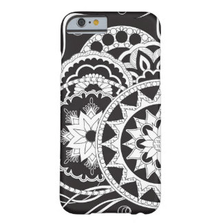 Black&white an~ordnen Zen pattern with sie an Barely There iPhone 6 Hülle