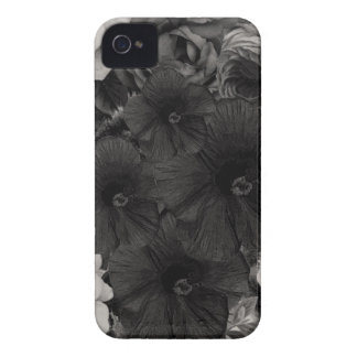 Black&White Blumencollage iPhone 4 Etuis