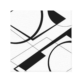 Black&White Entwurf Leinwanddruck