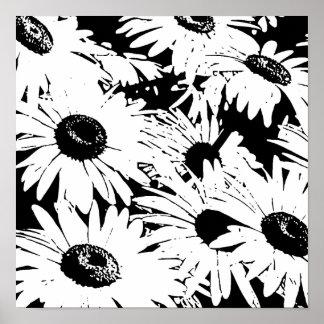 Black&White Gänseblümchen Poster