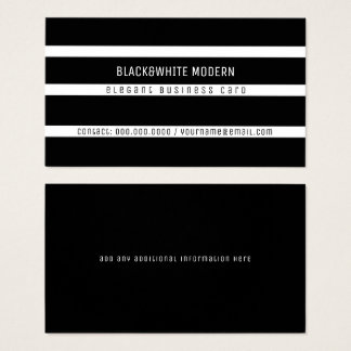black&white gestreiftes modernes elegantes visitenkarte