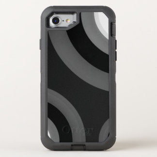 Black&White Retro Muster OtterBox Defender iPhone 8/7 Hülle