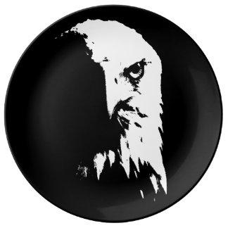 Black&White Weißkopfseeadler-dekorative Porzellanteller