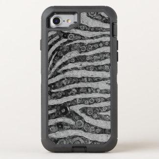 Black&White Zebra abstrakt OtterBox Defender iPhone 8/7 Hülle
