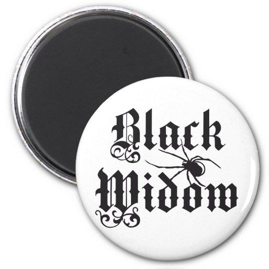 Black widow runder magnet 5,1 cm