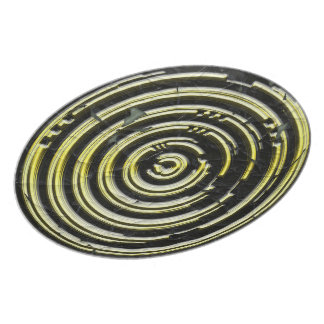 Black with gold circles teller
