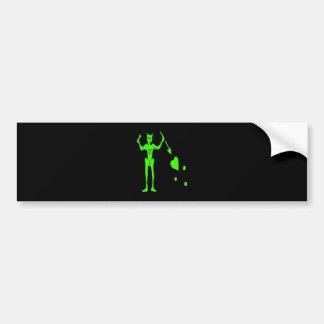 Blackbeard -grün autoaufkleber