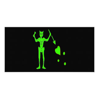 Blackbeard -grün individuelle photo karte