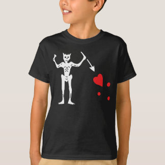 Blackbeards Piraten-Flagge T-Shirt