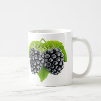 BlackBerry auf einem Blatt Kaffeetasse