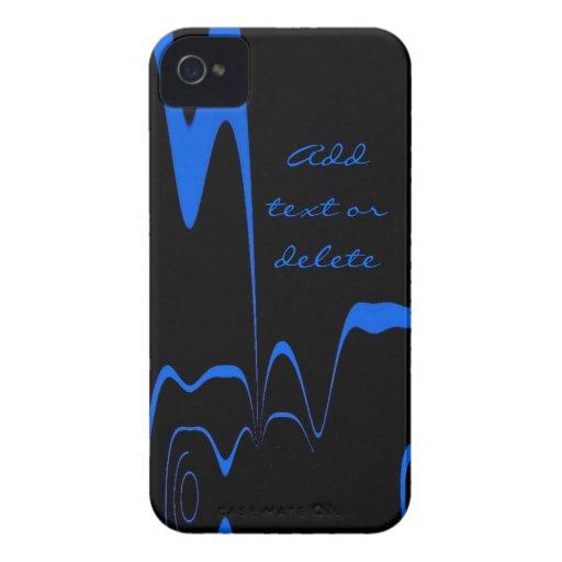 BlackBerry-Kasten-Blau-Blitz iPhone 4 Etuis