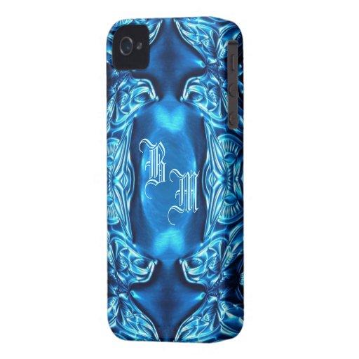 BlackBerry-Kasten-`` blauer Schmetterling Flower´´ iPhone 4 Etuis