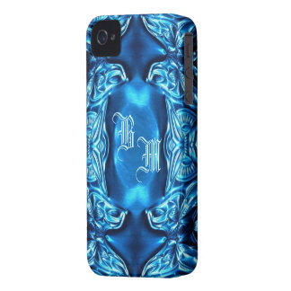 BlackBerry-Kasten-`` blauer Schmetterling Flower´´ iPhone 4 Cover