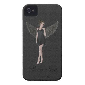 BlackBerry-mutiger niedlicher gotischer Engel iPhone 4 Hülle